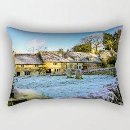 Beyond the church wall. Rectangular Pillow