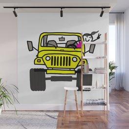 Jeep Wave Girl - Yellow Wall Mural