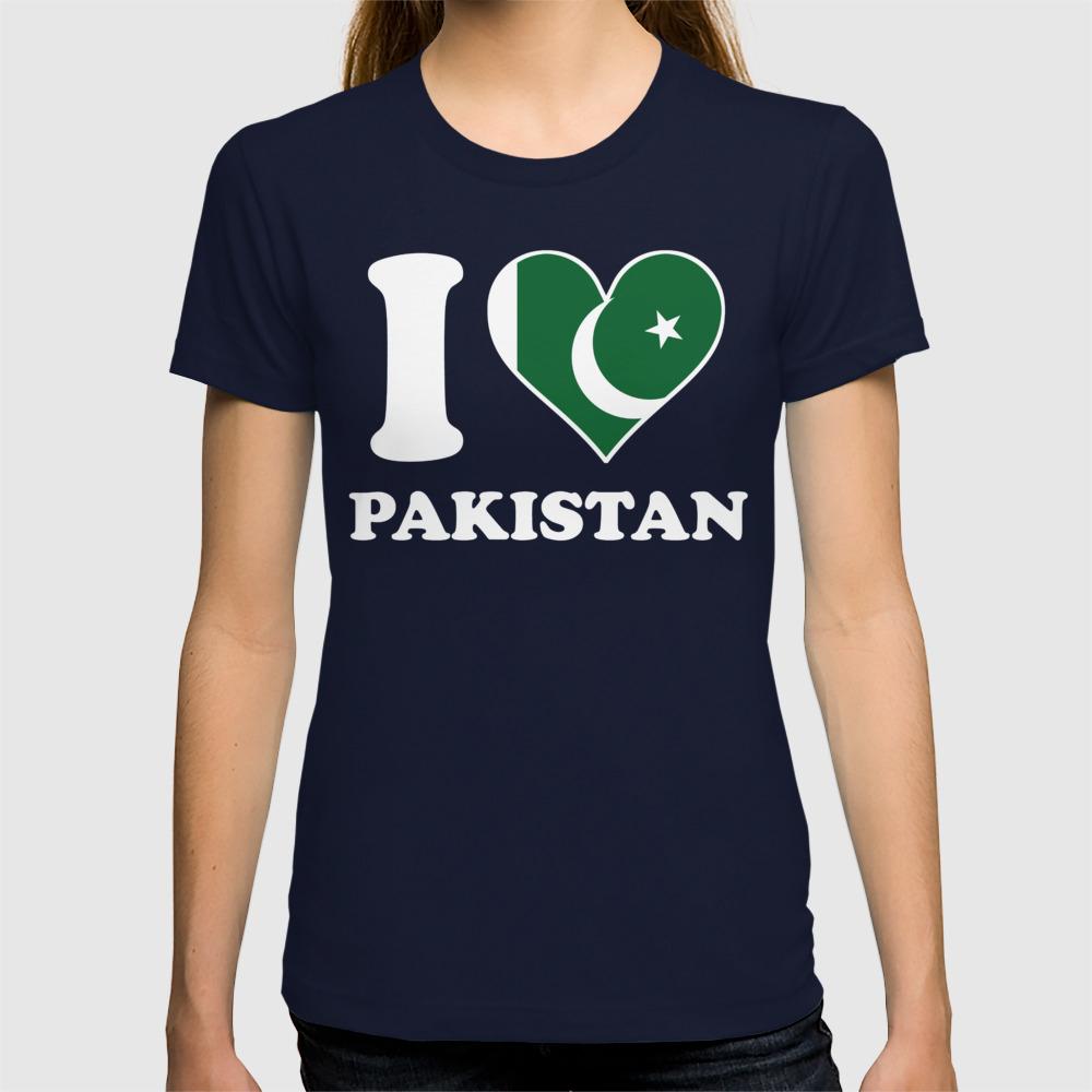 I Love Heart Pakistan V-Neck T-Shirt