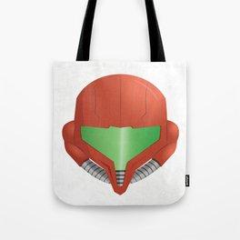 Samus Helmet - Super Metroid white Tote Bag