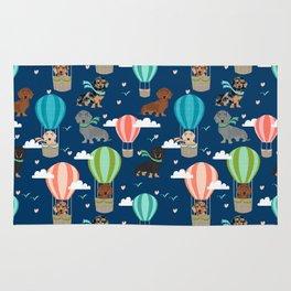 Dachshund hot air balloon dog cute design fabric doxie pillow decor phone case Rug