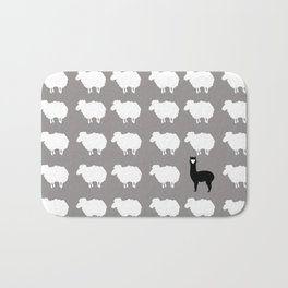 Don't be a sheep, Be a Llama Bath Mat