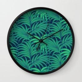 Palm leaves VIII Wall Clock
