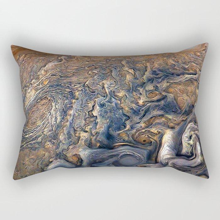 Jupiter's Clouds Rectangular Pillow