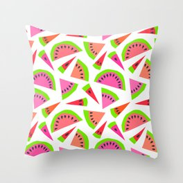 Juicy, juicy watermelon ... Throw Pillow