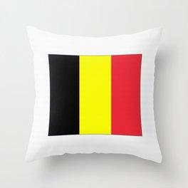 Flag of belgium-belgian,belge,belgique,bruxelles,Tintin,Simenon,Europe,Charleroi,Anvers,Maeterlinck Throw Pillow