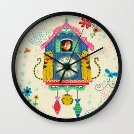 Cuckoo Clock Cats Wall Clock