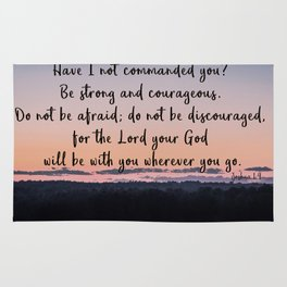 Joshua 1:9 Rug