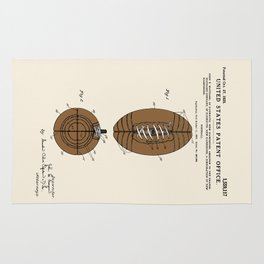 Football Patent Rug