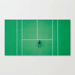 Tennis court green Canvas Print