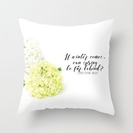 Hope for Spring in the Winter Throw Pillow