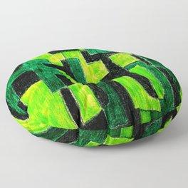 Three Green Puzzle Floor Pillow