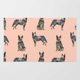 Australian Cattle Dog blue heeler dog breed gifts for cattle dog owners Rug