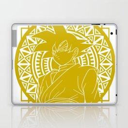 Stained Glass - Dragon Ball - Black Goku Laptop & iPad Skin