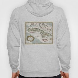 Vintage Map of Cuba and Jamaica (1763) Hoody