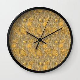 Goldfishes in the Rye Wall Clock