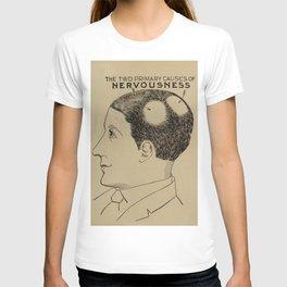 Nervous Norvas - Vintage Art Print - Phrenology Diagram from Vaught's Practical Character Reader (19 T-shirt