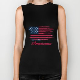 We are Americans,USA Products Biker Tank
