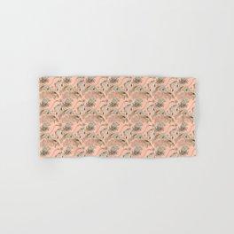 Flamingos in linocut look Hand & Bath Towel
