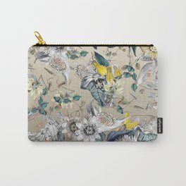 Exotic Fragrant Floral Garden in Gold Carry-All Pouch