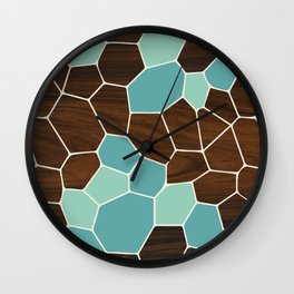 Geode in Blue Wall Clock