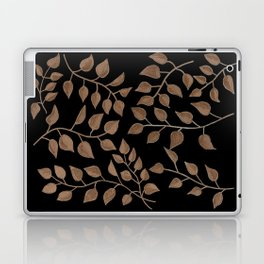 Gold Branches on Black Laptop & iPad Skin