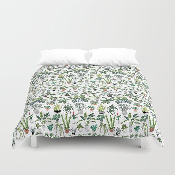 plants and pots pattern Duvet Cover