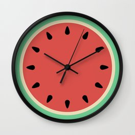 Watermelon Clock Triptych Wall Clock
