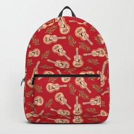 Rappa's ukelele on red Backpack