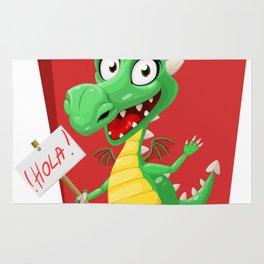 Dragon Says Hola Rug