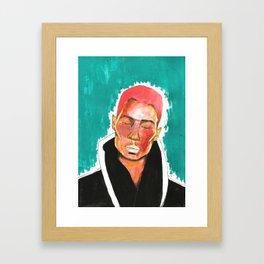Pink Hair Framed Art Print