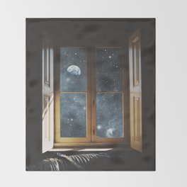 WINDOW TO THE UNIVERSE Throw Blanket