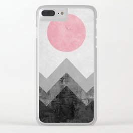 Landscape collage marble XVI Clear iPhone Case