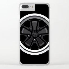 Wheel Design Retro Fuchs Felge Clear iPhone Case