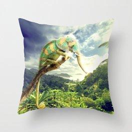 cameleophant Throw Pillow