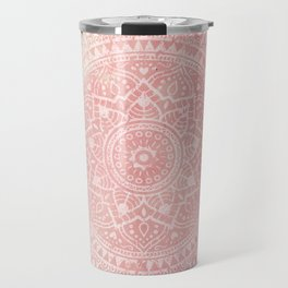 Pink Mandala Travel Mug
