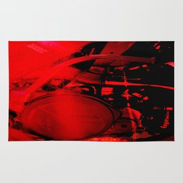 RED DIRTBIKE ENGINE Rug