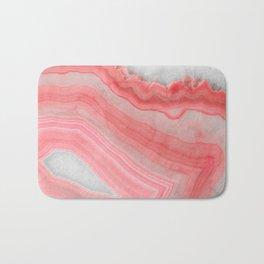 Coral Pink Agate  Bath Mat