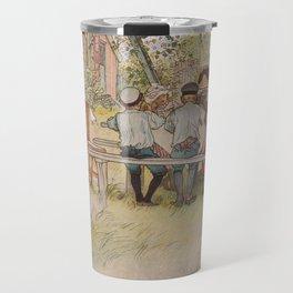Carl Larsson Breakfast Under The Big Birch Travel Mug