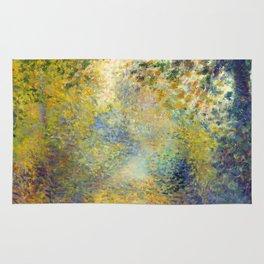 """Auguste Renoir  """"In the Woods"""" Rug"""