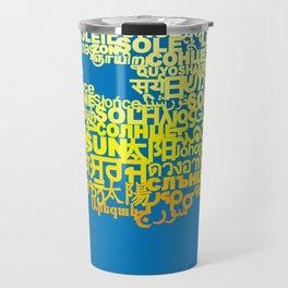 Sun in Different Languages Travel Mug