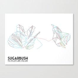 Sugarbush, VT - Minimalist Trail Art Canvas Print
