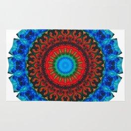 Inner Peace - Kaliedescope Mandala By Sharon Cummings Rug