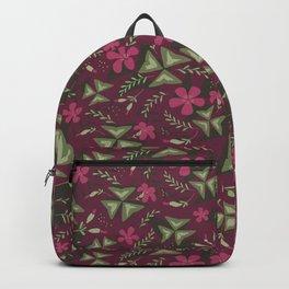 Shamrock Floral Layered Pattern / Purple Backpack
