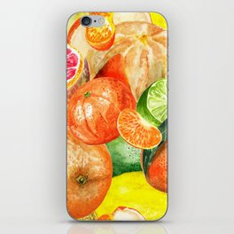 Pattern with citruses iPhone Skin