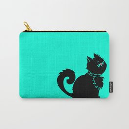 Cute Little Black Cat Carry-All Pouch