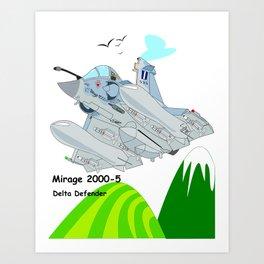 Mirage 2000-5 Aircraft Art Print