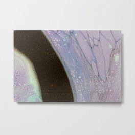 Dirty Acrylic Paint Pour 25, Fluid Art Reproduction Metal Print