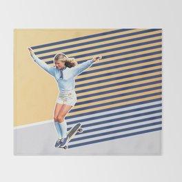 Skate Like a Girl 02 Throw Blanket