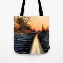 Down the Tracks Tote Bag